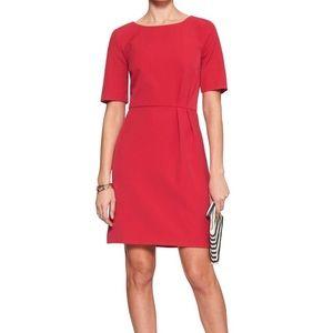 NWT Banana Republic Factory Red Sheath Dress
